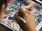 نقاشی کشیده شده با قلم اپل