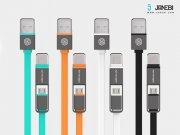 خرید کابل دو پورت Micro USB و Lightning مارک Nillkin Plus