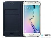 خرید کیف اصلی Fabric Flip Wallet Cover Samsung Galaxy S6 edge