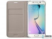 جانبی کیف اصلی Fabric Flip Wallet Cover Samsung Galaxy S6 edge