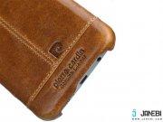 طلایی قاب چرمی Samsung S7 edge مارک Pierre Cardin