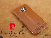 طلایی قاب چرمی Samsung Galaxy S7 مارک Pierre Cardin