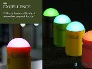 جانبی اسپیکر بلوتوث و چراغ خواب RB mm LED Atmosphere Bluetooth Speaker مارک Remax