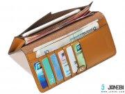 خرید کیف پول و گوشی Wallet Janyee Genuine Leather iphone 6/6s/6 plus/6s plus مارک Remax