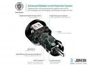 قیمت شارژر فندکی دو پورت با قابلیت شارژ سریع آکی Aukey CC-T7 Dual Port Car Charger with Quick Charge 3.0
