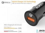 خرید شارژر فندکی با قابلیت شارژ سریع آکی Aukey CC-T10 Car Charger with Quick Charge 3.0