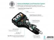 خرید شارژر فندکی چهار پورت با قابلیت شارژ سریع آکی Aukey CC-T9 4-Port USB Car Charger with Quick Charge 3.0