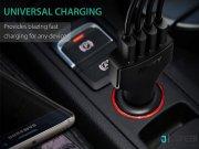 فروشگاه آنلاین شارژر فندکی چهار پورت با قابلیت شارژ سریع آکی Aukey CC-T9 4-Port USB Car Charger with Quick Charge 3.0