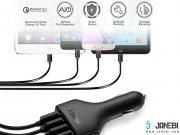 قیمت شارژر فندکی چهار پورت با قابلیت شارژ سریع آکی Aukey CC-T9 4-Port USB Car Charger with Quick Charge 3.0