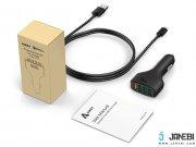 فروش اینترنتی شارژر فندکی چهار پورت با قابلیت شارژ سریع آکی Aukey CC-T9 4-Port USB Car Charger with Quick Charge 3.0