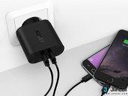 فروش اینترنتی شارژر دیواری 2 پورت با قابلیت شارژ سریع آکی Aukey PA-T16 USB Wall Charger with Dual Quick Charge 3.0