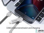 کابل دو سر USB به میکرو و لایتنینگ نیلکین پلاس 3