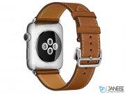 اپل واچ سری 2 مدل Apple Watch 38mm Hermes Fauve Barenia Single Tour Deployment Buckle