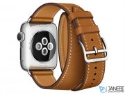 اپل واچ سری 2 مدل Apple Watch 38mm Hermes Fauve Barenia Double Tour
