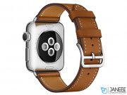 اپل واچ سری 2 مدل Apple Watch 42mm Hermes Fauve Barenia Leather Single Tour