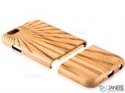 قاب چوبی طرح خورشید آیفون 6