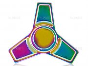 اسپینر فلزی سه پره ای رنگین کمانی طرح ذوزنقه