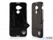 قاب محافظ طرح چرم بلک بری BlackBerry Dtek60 Leather Design Hard Case