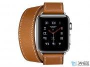 نمایشگر ساعت هوشمند اپل با بند چرمی