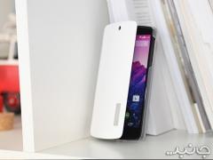 کیف چرمی سفید LG Google Nexus 5