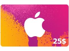 گیفت کارت 25 دلاری آیتیونز Apple iTunes 25$ Gift Card