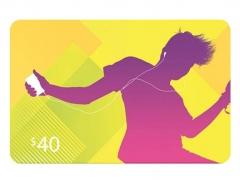 گیفت کارت 40 دلاری آیتیونز Apple iTunes 40$ Gift Card