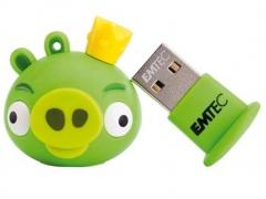 خرید فلش مموری  Emtec Angry Birds Green 8GB