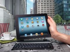خرید آنلاین کیبورد مخصوص آی پد Logitech Keyboard Ultrathin For iPad