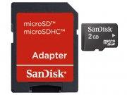 خرید عمده رم میکرو اسدی 2 گیگابایت SanDisk Class 4