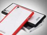 خرید عمده قاب محافظ شیشه ای Sony Xperia T3 مارک Rock