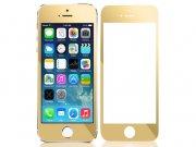 خرید عمده محافظ صفحه نمایش شیشه ای پشت و رو طلایی Apple iphone 5/5S