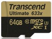 رم میکرو اسدی 64 گیگابایت Transcend Class 10 Ultimate 633X
