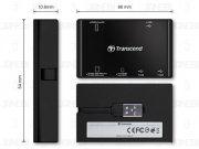 هاب و کارت خوان Transcend RDP7 USB 2.0 Card Reader/Hub