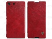 کیف چرمی نیلکین سونی Nillkin Qin Leather Case Sony Xperia M5