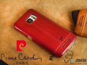 قرمز قاب چرمی Samsung Galaxy S7 مارک Pierre Cardin