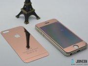 محافظ صفحه نمایش شیشه ای پشت و رو طلایی Apple iphone 5/5S