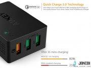 فروش شارژر دیواری 3 پورت با قابلیت شارژ سریع آکی Aukey PA-T14 3-Port Wall Charger with Quick Charge 3.0