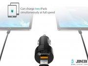 شارژر فندکی دوپورت با قابلیت شارژ سریع آکی Aukey CC-T8 Dual Port Car Charger with Quick Charge 3.0