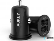 شارژر فندکی دوپورت آکی Aukey CC-S5 Flush-fit 24W Dual Port Car Charger