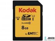 کارت حافظه کداک Emtec Kodak UHS-I U3 Class 10 95MBps 650X SDHC 8GB