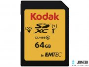 کارت حافظه کداک Emtec Kodak UHS-I U1 Class 10 85MBps 580X SDHC 64GB