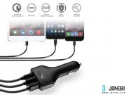 شارژر فندکی سه پورت آکی Aukey CC-Y3 Type-C 49.5W 3-Port Car Charger With Quick Charge 3.0