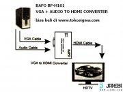 مبدل وی جی ای به اچ دی ام آی بافو BAFO VGA+Audio to HDMI BF-H101