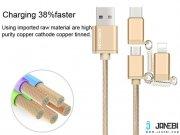 کابل شارژ سریع و انتقال داده 3 سر Joyroom 3 In 1 Fast Charging Cable
