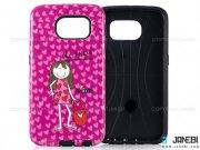 قاب محافظ گوشی سامسونگ طرح دختر و قلب Mobile Case Samsung Galaxy S6