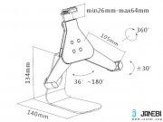 استند و پایه نگهدارنده تبلت و آیپد Brateck Universal Tablet Stand PAD4-09
