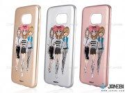 محافظ ژله ای سامسونگ طرح سه دختر Merit Case Samsung Galaxy S7 Edge