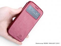 کیف چرمی نیلکین سامسونگ Nillkin Leather Case Samsung Galaxy S4