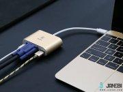 هاب آداپتور تایپ سی به وی جی ای بیسوس Baseus Sharp Series Type-C To VGA+HUB Adapter