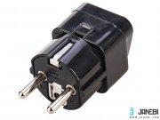 تبدیل سهشاخه به دوشاخه برق بافو BAFO Power Connector 3 to 2